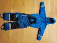 Kids Didricksons 1913 ski jacket and pants BLUE