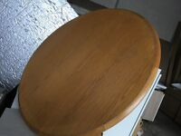 Beautiful solid, round timber coffee table