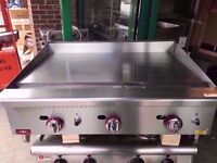 90CM MEAT COMMERCIAL FASTFOOD BBQ FLAT GAS GRILL MACHINE CATERING TAKEAWAY DINER CAFE OUTDOORS