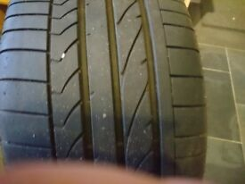 "Bridgestone Potenza Run flat tyre 18"" with 6mm+ Tread"
