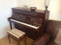 Reid-Sohn 115 upright piano with matching adjustable stool (mahogany high polish)