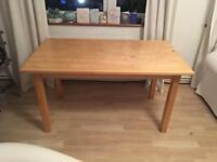 Free light wood table table