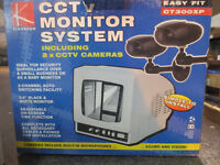 Security cameras and monitor, cameras with built in microphone