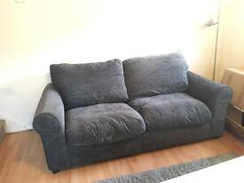 Two seater grey sofa - only available until this weekend