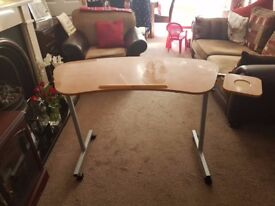 over chair table in excellent condition