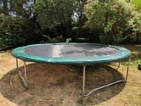 Trampoline 13ft £100, excellent condition, brand 'Jump for Fun'