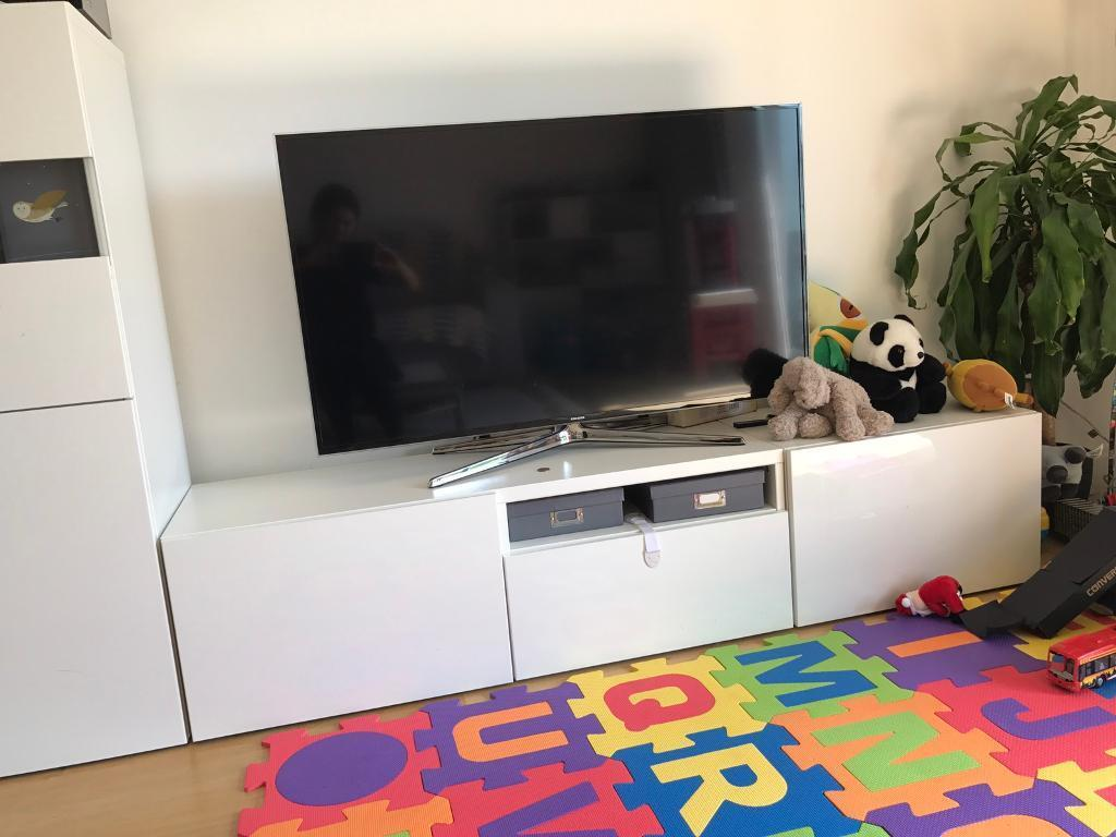 Ikea besta tv stand media unit tv table tv bench in - Ikea table tv ...