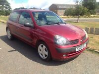 2001 plate renault clio 1.5 diesel long mot, very reliable car, cheap insurance,