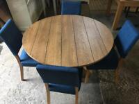 BRAND NEW Round Oak Kitchen dining table & 4 chairs