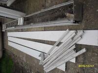 Aluminium boxed guttering/sofits with internal upvc ogee gutters brackets down pipe & upvc fascias