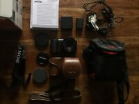 Sony Alpha A5100 DSLR Digital Camera - Black (Kit w/ NEEWER 1.7/35mm Lens) & ACCESSORIES