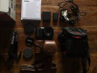 Sony Alpha A5100 DSLR Digital Camera - Black (Kit w/ NEEWER 1.7/35mm Lens) & ACCESSORIES