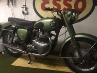 bsa a7ss shooting star 1956 only 2,868 miles from new
