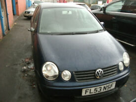 Breaking for spares VW Polo 1.2 53 Reg