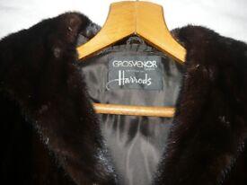 Genuine mink fur coat in perfect condition