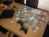 Ps3 with lot of games and 2 remote