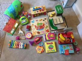 Bundle of toys and books