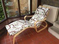 IKEA Poang recliner chair