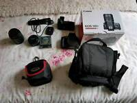 Canon eos 100d with 250 pounds worth of accessories