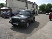 2004 LAND ROVER DISCOVERY 2 , SPARES OR REPAIR, MOT TILL JANUARY 2019. CHASSIS