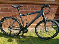 Gents aluminium ridgeback mountain bike.
