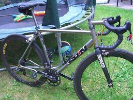 Spin Mk3 Titanium bicycle 54cm original cost £6750 Rotor 3D+ pwr meter enve fork