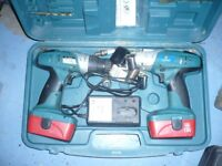 Marksman 18v cordless drills, set of 2, with charger