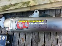 pro circuit ti-4 titanium exhaust crf 450 mx hardly used,
