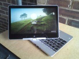 "HP EliteBook 810 i5 4th gen 8GB 180GB SSD 11.5"" Touch Screen Metal Laptop / Tablet Hybrid Windows 10"