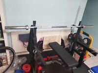 100 kilos barbell set and squat rack