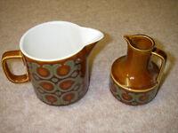 Hornsea Bronte Milk jug and vinegar jug