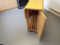 Fold away wooden table and chairs set