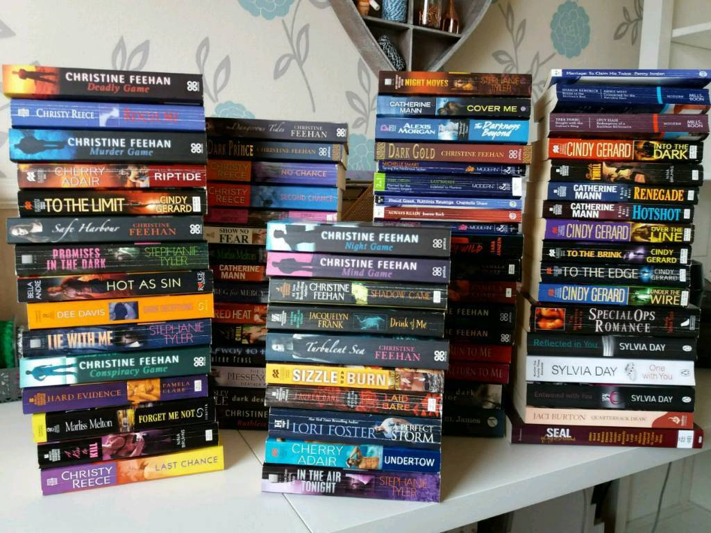 Job lot romance books! (Suspense, military, adventure, supernatural) all  romance   in Warrington, Cheshire   Gumtree