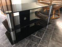 Black glass TV unit TV Table