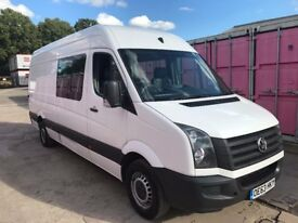 VOLKSWAGEN CRAFTER CR35 LWB CREW VAN 7 SEATER,2.0TDI, 136BHP, 63REG , FOR SALE