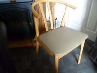 Four Next oak wishbone dining chairs