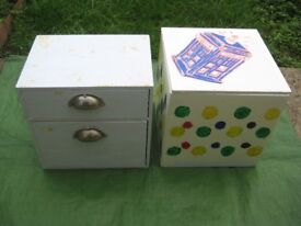 Wooden Box and Wooden Set of Drawers - Two Restoration Projects for £5.00 each