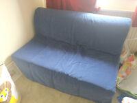 Ikea LYCKSELE LÖVÅS two-seat sofa bed, Henån blue
