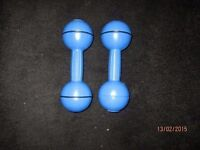 DAVINA MC CALL BLUE WEIGHTS / DUMBBELLS GREAT FOR EXERCISE KEEP FIT