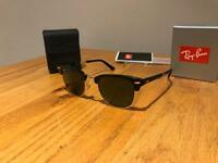 Genuine Ray-Ban RB2176 901 Clubmaster Foldable Sunglasses with Case and Box RRP £200 - AS NEW