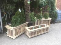 Garden planters made with reclaimed timber