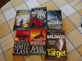 10 books-3 -Patrick Robinson, 3- David Baldacci and 4 Northern Ireland non-fiction