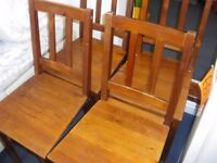 4 IKEA WOODEN DINING CHAIRS