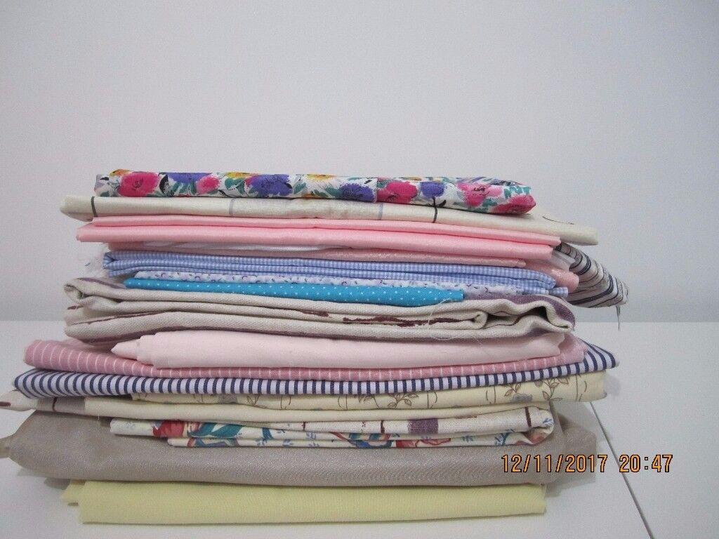 Fabric, pretty pastel colours