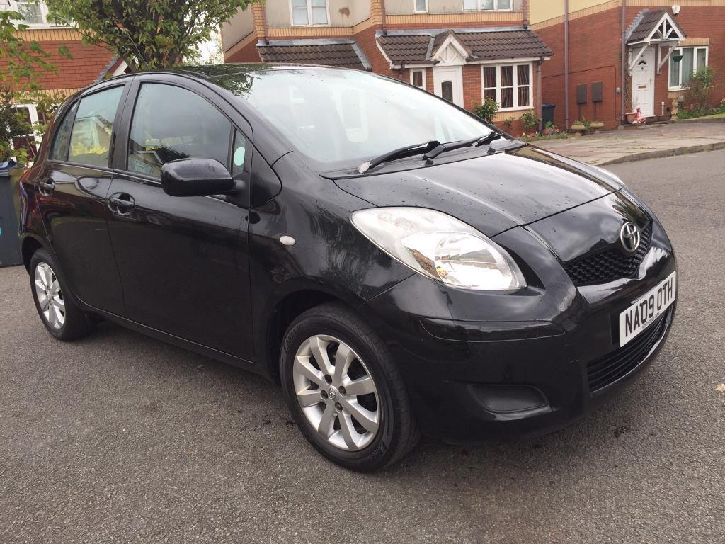 toyota yaris 2009 1 0 petrol black 5 door 1 owner best car for new driver in small heath west. Black Bedroom Furniture Sets. Home Design Ideas