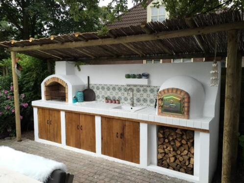Pizza Oven Tuin : ≥ houtgestookte pizzaoven broodoven steenoven houtoven
