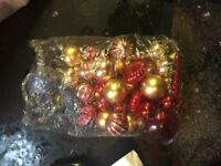 Christmas baubles tinsel