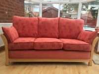 REDUCED! QUALITY LOMOND - 3 PIECE SUITE - - STURDY WOOD FRAME - REMOVABLE CUSHIONS