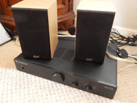 Cambridge Topaz AM1 amp with Gale 3010s speakers.