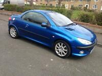 PEUGEOT 206cc 206 cc CONVERTIBLE 1 YEAR MOT PRIVATE PLATE WORTH £500 swap BMW Astra vectra